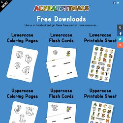 Free Printable Downloads - Coloring Pages, Flash Cards, Printable Sheet - Alphabetimals