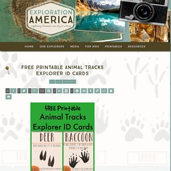 Free Printable Animal Tracks Explorer ID Cards