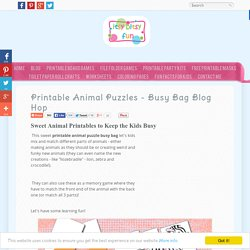 Printable Animal Puzzles {Busy Bag}