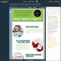 Free Printable, Diy birthday Decorations