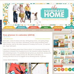 free printable planner & calendar {2014}