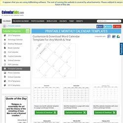 Printable Calendar 2012 – Printable Monthly Calendar Templates