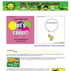 Free printable kids book Read Online: Let's Count, childrens English picture books