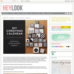 FREE PRINTABLE: DIY CHRISTMAS CALENDAR
