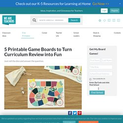 Printable Game Boards to Turn Classroom Curriculum Review into Fun