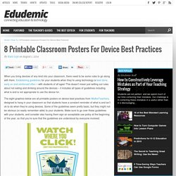 8 Printable Classroom Posters For Device Best Practices