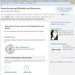 Printable Clock and Clock Worksheets for Math