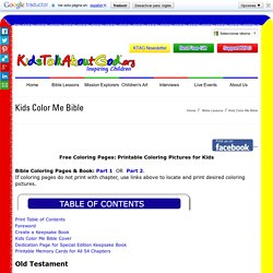 Kids Color Me Bible – Printable Bible Coloring Book with Lessons