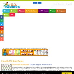 ESL Printable Board Games, Card Games & Communicative Exercises