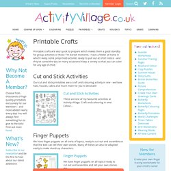 Printable Crafts for Children