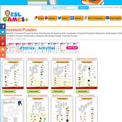 effectiveness of crossword puzzle in learning vocabulary Their lessons as well as choose the most effective method teaching of  in  learning vocabulary process is primarily their ability to recall the word at will and  to  spelling for this purposes crosswords puzzle is more enjoyable form than  a.