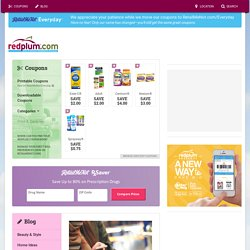 Printable Coupons and Money Saving Tips - RedPlum.com