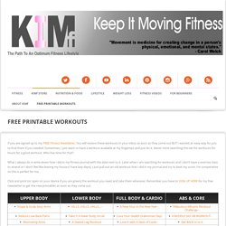Free Printable Exercise Workouts - At Home, Gym, Or ANYWHERE