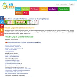 Printable English Grammar Exercises, ESL Grammar Worksheets