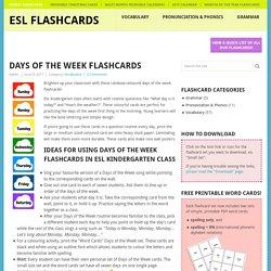 Free Printable Flashcards for Teaching ESL
