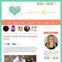 Adorable Printable Christmas Flextangles for Kids