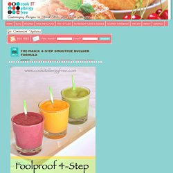 Printable 4 Step Formula to Making Perfect Smoothies