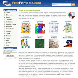Printable Games | Free Printable Games to Print Out - FreePrintable.com