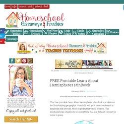 FREE Printable Learn About Hemispheres Minibook