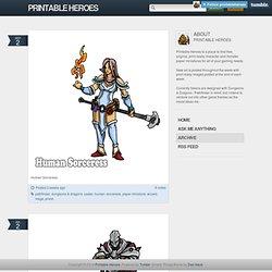 Printable Heroes