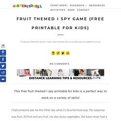 Fruit Themed I Spy Game {Free Printable for Kids}