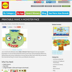 Printable: Make a Monster Face - ALEX Toys