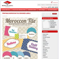 Printable Moroccan Tile Designed Labels