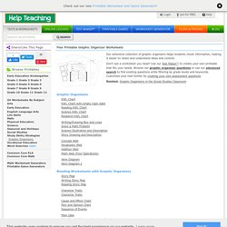 Free Printable Graphic Organizer Worksheets