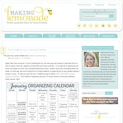 Free Printable January Organizing Calendar