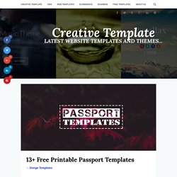 13+ Premium Printable Passport Templates