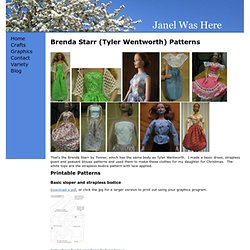 Free Patterns For Brenda Starr / Tyler Wentworth