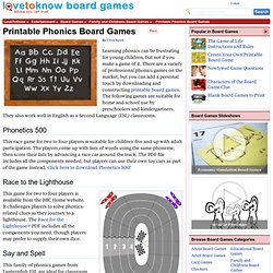 Printable Phonics Board Games