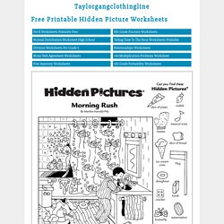 Free Printable Hidden Picture Worksheets - Taylorgangclothingline