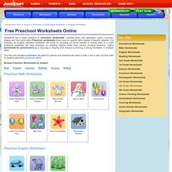 Preschool Worksheets Online – Free Printable Worksheets for Kids