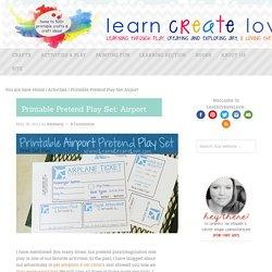 Printable Pretend Play Set: Airport