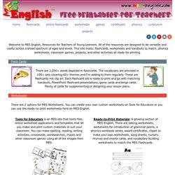 MES English - free printable resources for teachers