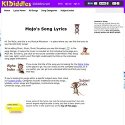 Kiddles - Songs with lyrics by categories