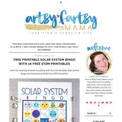 Free Printable Solar System Bingo with 16 Free STEM Printables