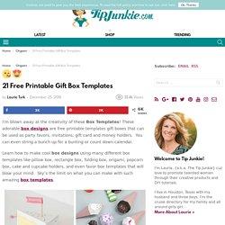 21 Free Printable Gift Box Templates – Tip Junkie