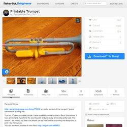 Printable Trumpet by LtDan