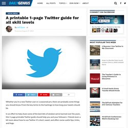 A printable 1-page Twitter guide for all skill levels - Daily Genius