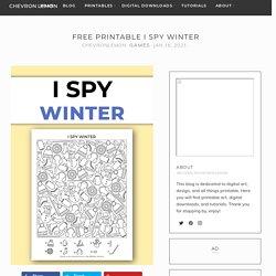 Free printable I spy winter - Chevron Lemon