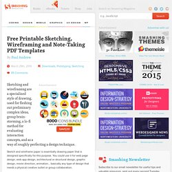 Free Printable Sketching, Wireframing and Note-Taking PDF Templates - Smashing Magazine