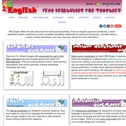 Printable Worksheets: grammar, phonics, games, clipart and more