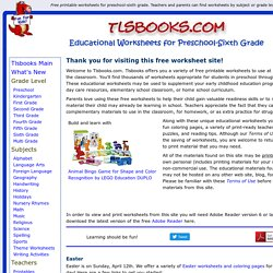 Free Printable Worksheets for Preschool through Sixth Grade