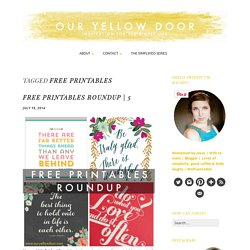 Free Printables Archives - Our Yellow Door