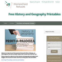 Free History and Geography Printables