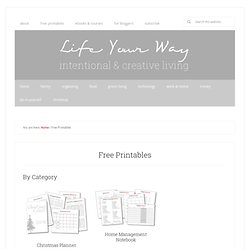 Life...Your Way Printables — Personalized Solutions for Intentional Living