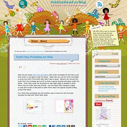 Tooth Fairy Printables for Kids