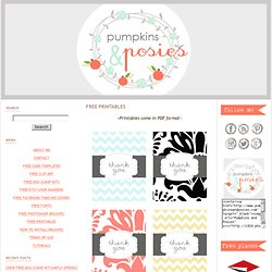 {FREE PRINTABLES} - Pumpkins and Posies